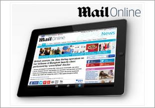 mailonline on Tablet