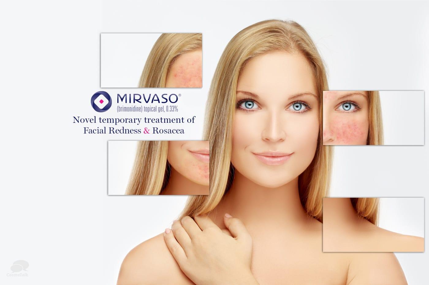 Mirvaso novel temporary treatment of facial redness
