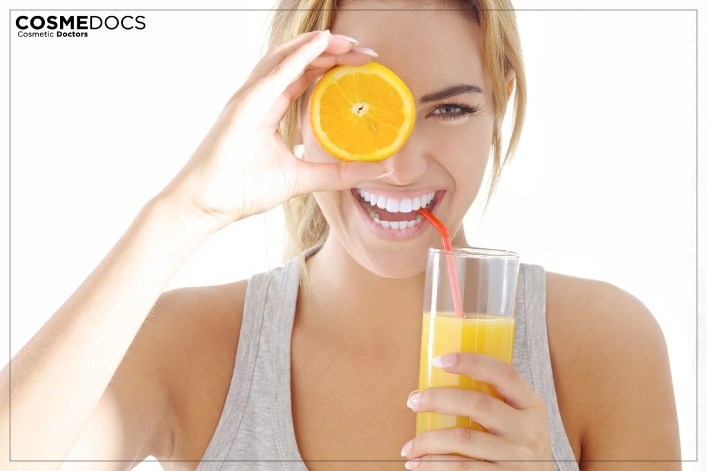 Less intake of Vitamin C and K causes Dark Circle