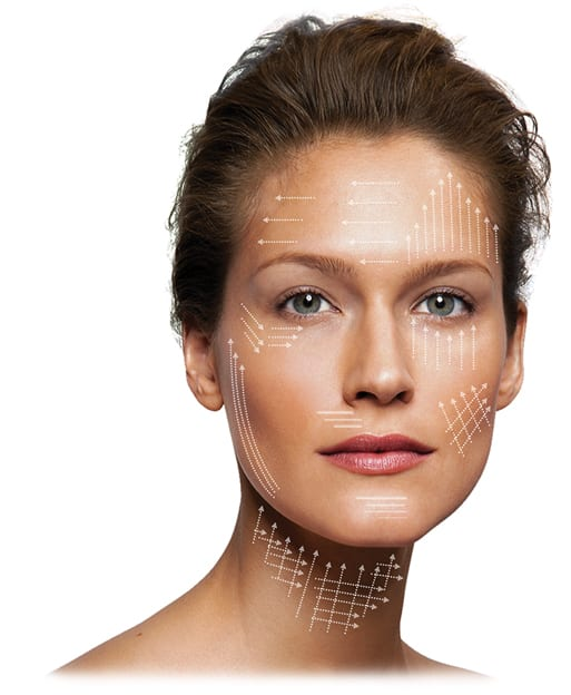 Facelift Treatment Areas