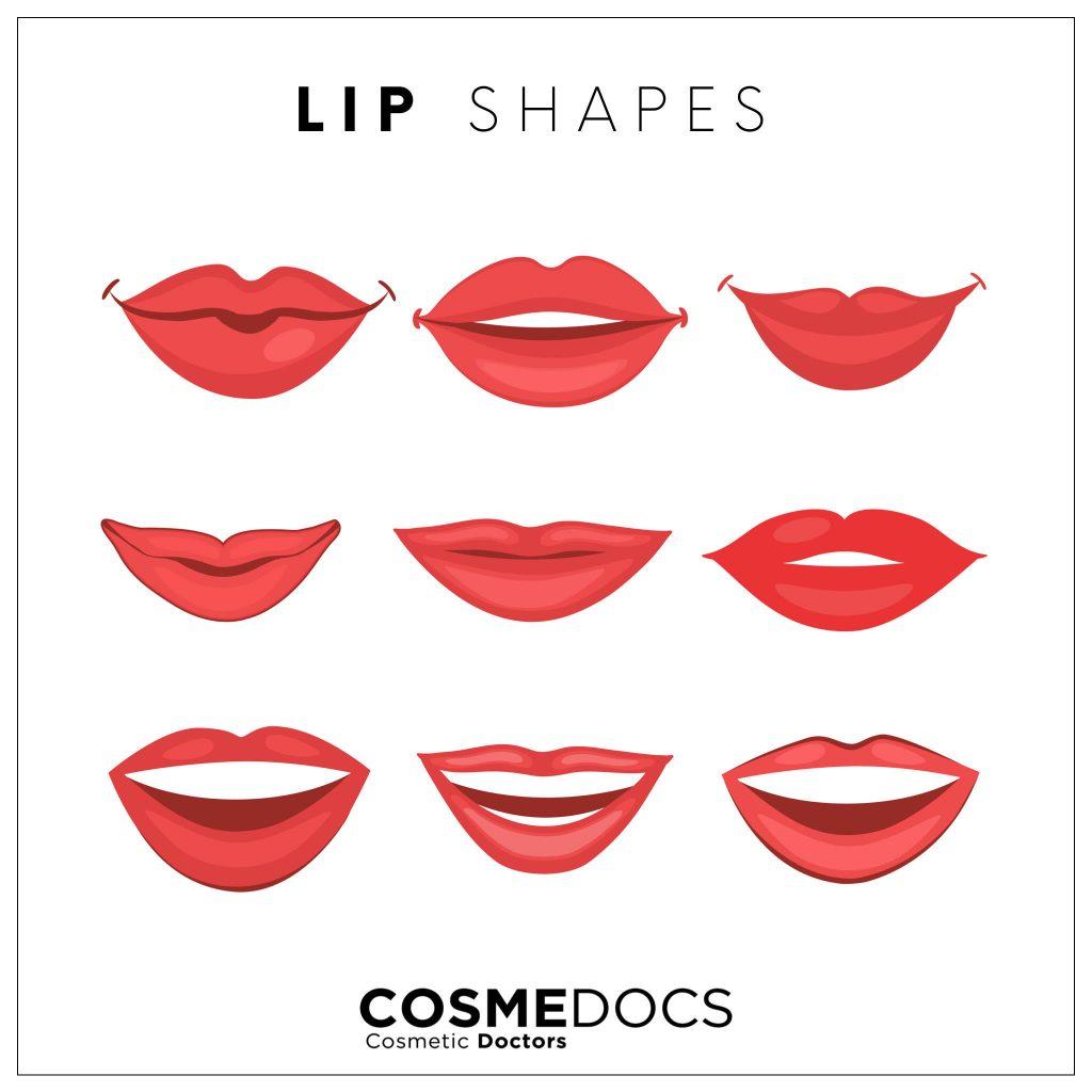 lip shape illustration