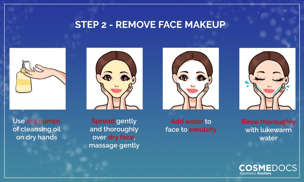 remove face makeup before bed