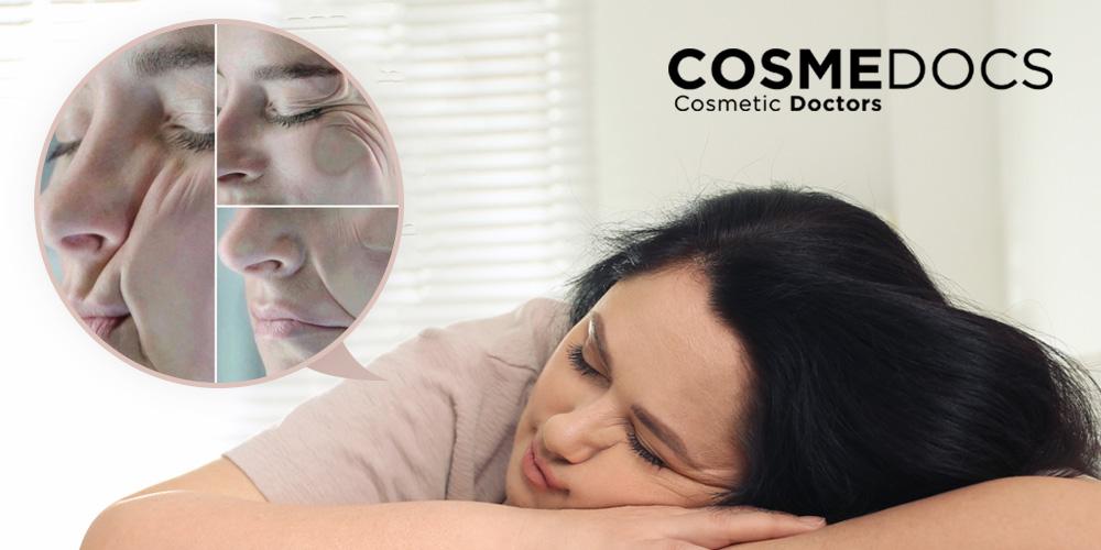 wrong sleeping position causes sleep wrinkles